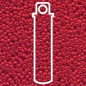 Size 8/0 Seed Beads - Light Red