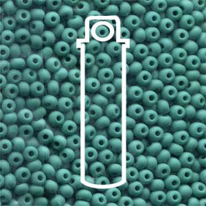 Size 8/0 Seed Beads - Turquoise Green Opaque