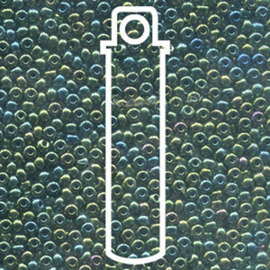 Size 8/0 Seed Beads - Green Iris