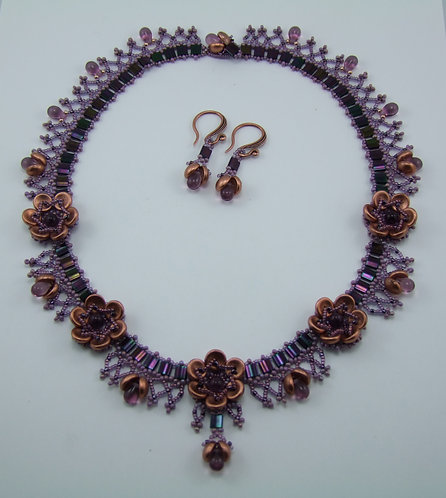 Necklace and Earrings ~ Tudor Rose