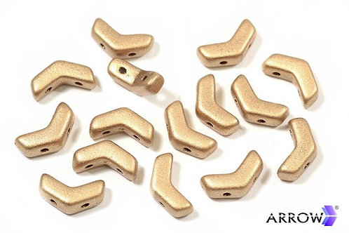 5x8mm Arrow Beads - Matte Gold