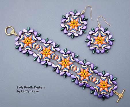 Bracelet and Earrings ~ Spring Dream