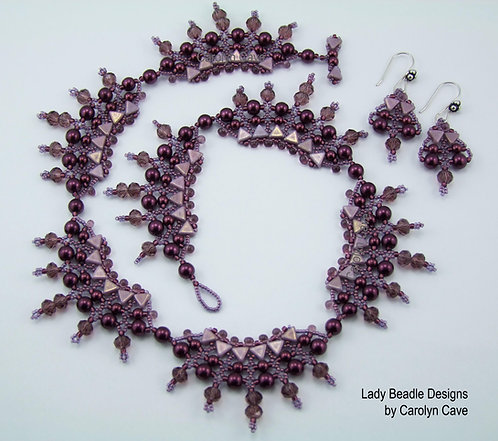 Necklace and Earrings ~ Chardonnay