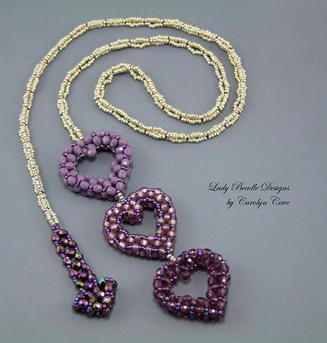 Necklace ~ Three Hearts Lariat