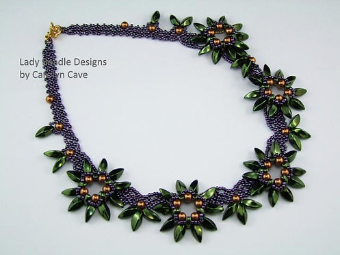 Necklace and Earrings ~Tropical Vine