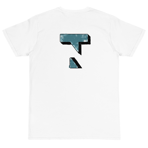 3D Painting Blue Tee