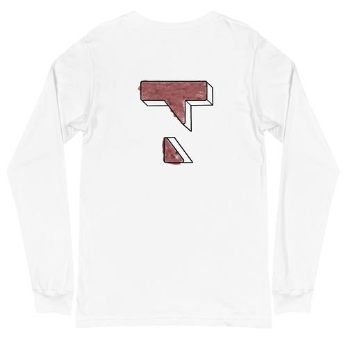 3D Painting Red Long Sleeve Tee