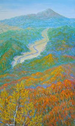 秋望鳥海山