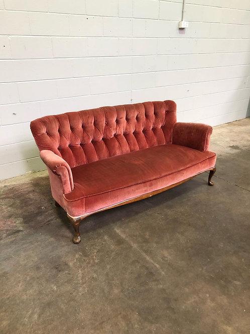 Vintage Velvet 3 seater