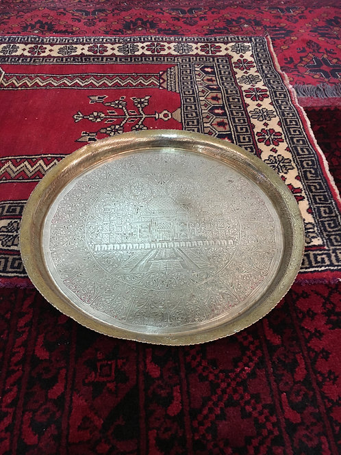 Antique Brass Serving Tray I