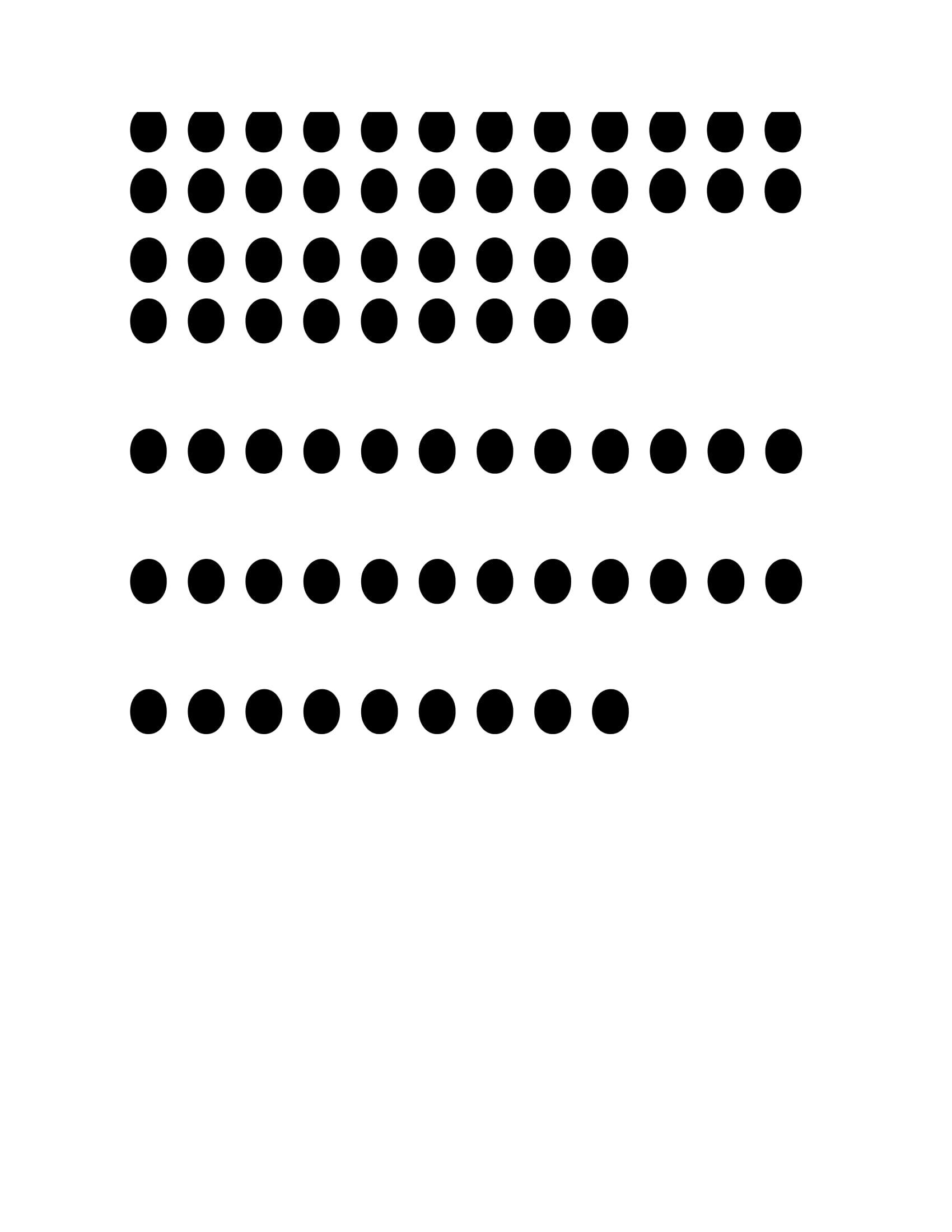 dots 1-5