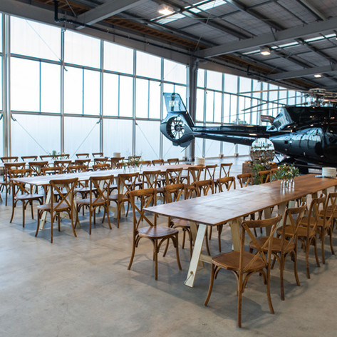 Trestle tables & Crossback chairs