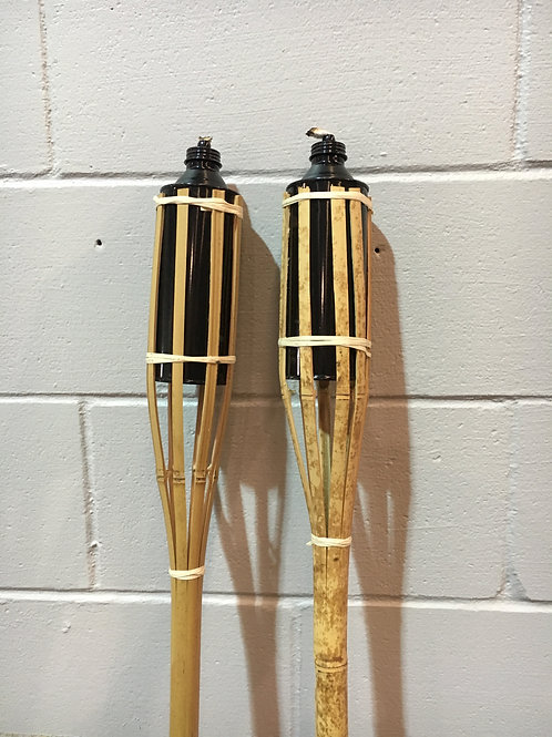 Bamboo Fire Torches