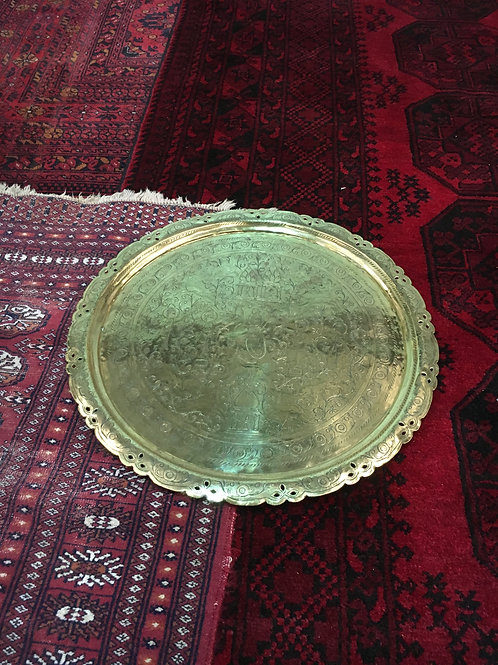 Antique Brass Serving Tray III