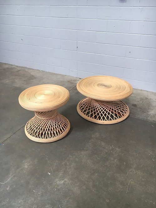 Peacock Cane Coffee Table