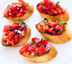 Fresh Bruschetta Canapés