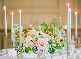 Grey-Linen Tapered candles: Use tall, slim taper candles to dress your tabletops.