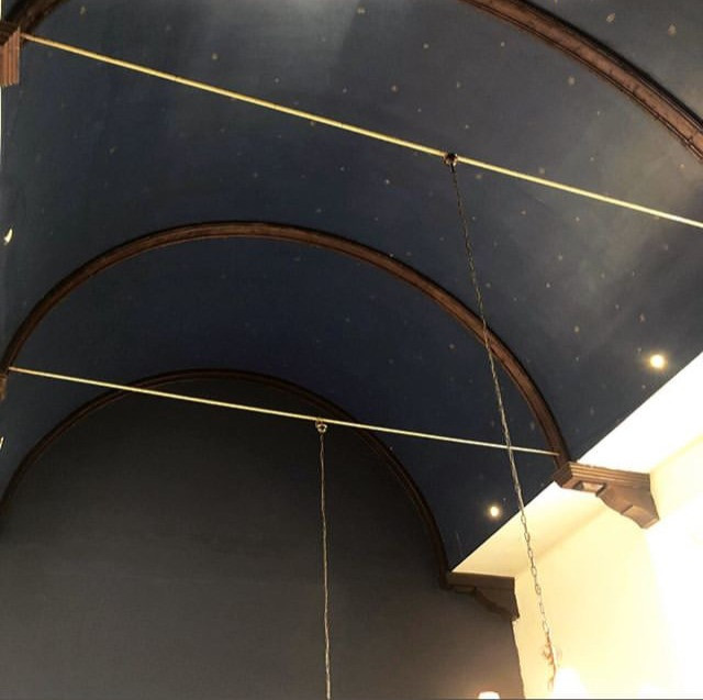 """Don't forget to look up at the stars on the arched ceiling - hence the name """"Star Chamber"""""""