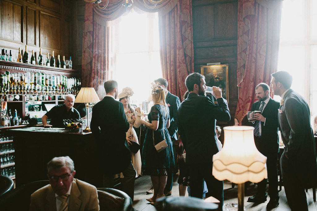 A wonderful spot for guests to get together and have a drink before the ceremony