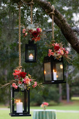 Hanging Lanterns & Florals