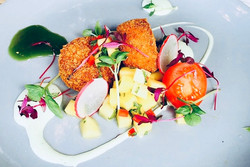 Salmon and Dill Fishcakes, served with Garnish