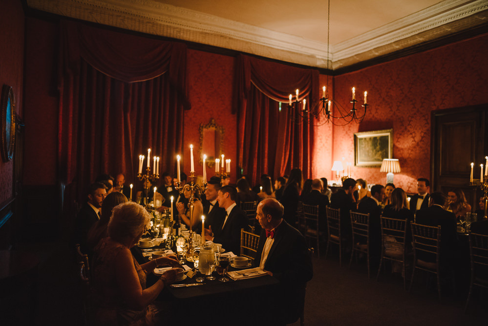 The State Dining Room opens in to the Morning Room and Library Bar