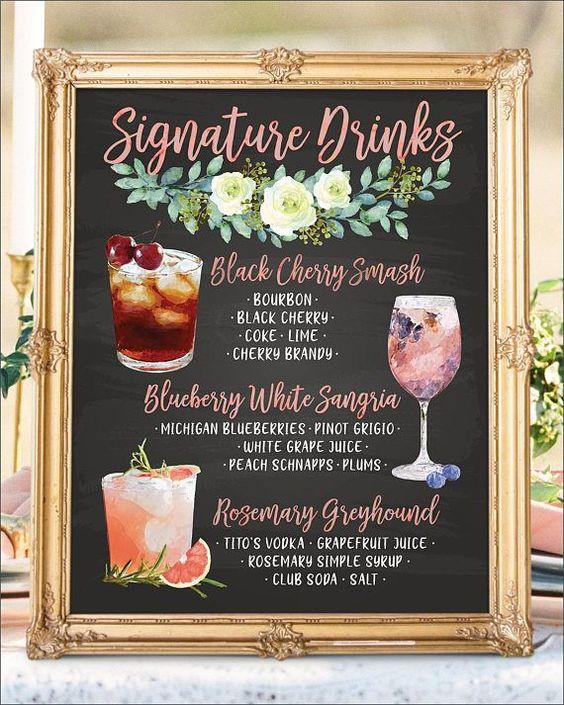 Drinks Signage