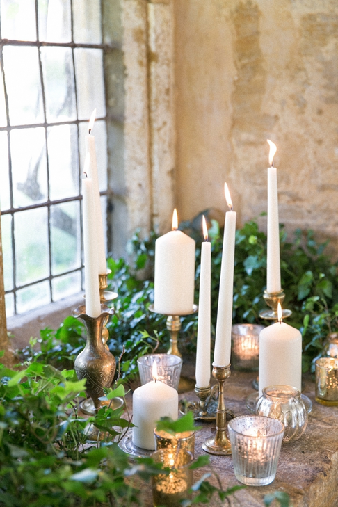 Staggered Height Candle Display