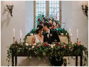 Romantic foliage & floral design