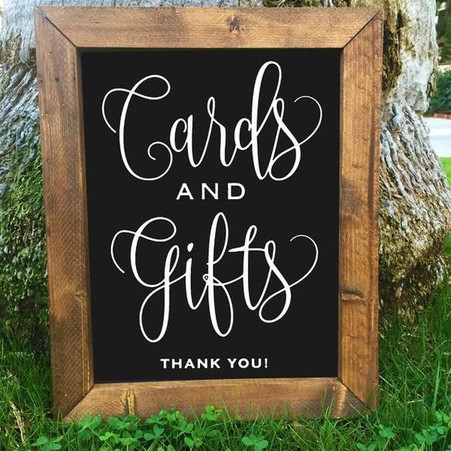 Blackboard Gifts & Cards Sign