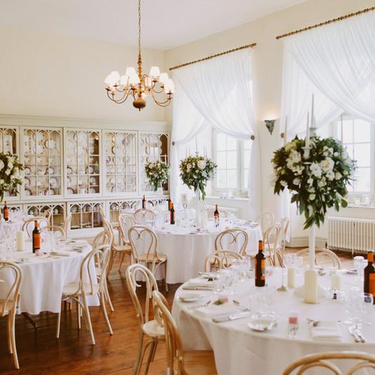 The Stunning & Light Ballroom, ready for Dining