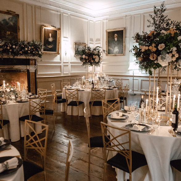 The Salon during a Winter Wedding
