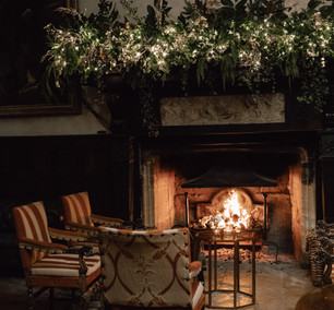 Beautiful fireplace, perfect for Winter drinks reception