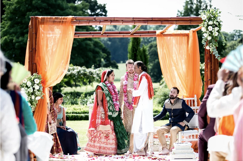 Mandap, with looser Foliage and Flowers