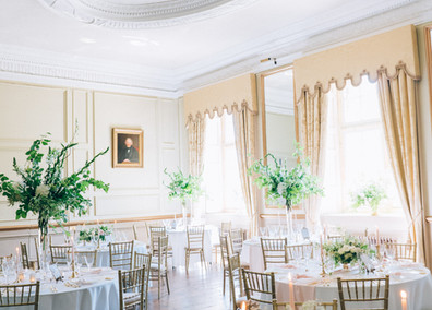 The Salon overlooks the South Terrace and Lake, and is wonderfully light