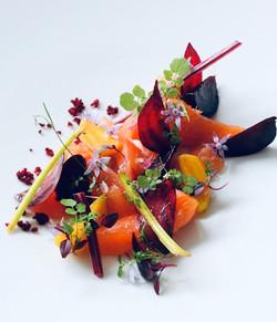 Smoked Salmon served with Garnish