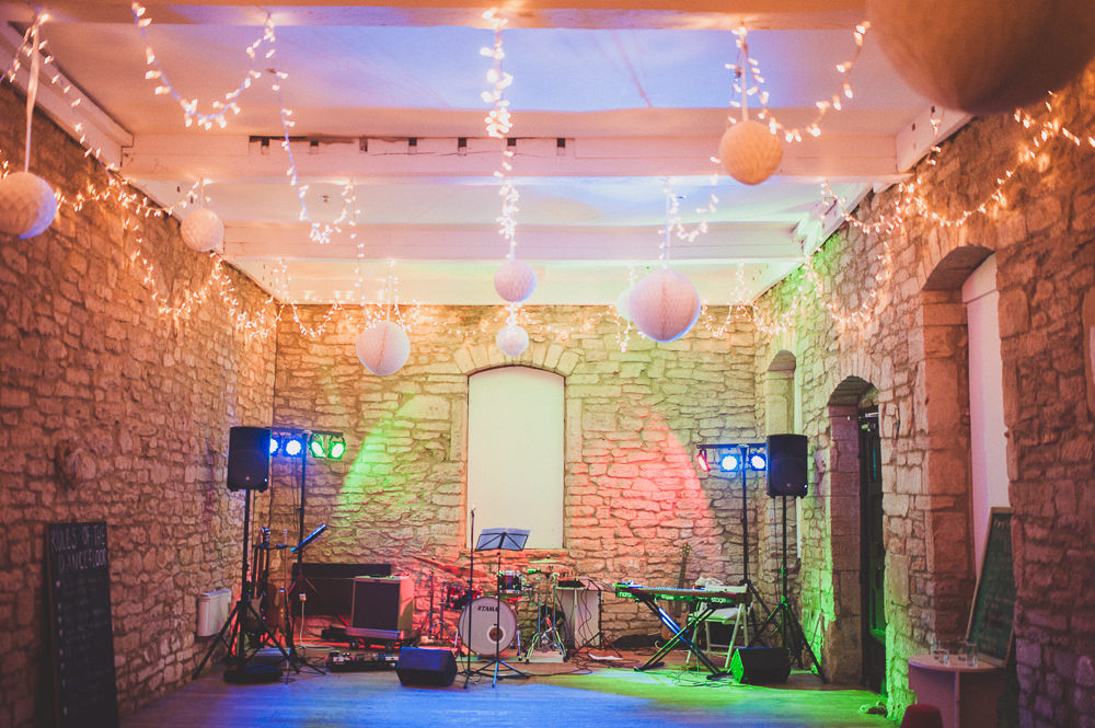The Hayloft Dance Floor, sat to the right hand side of the courtyard