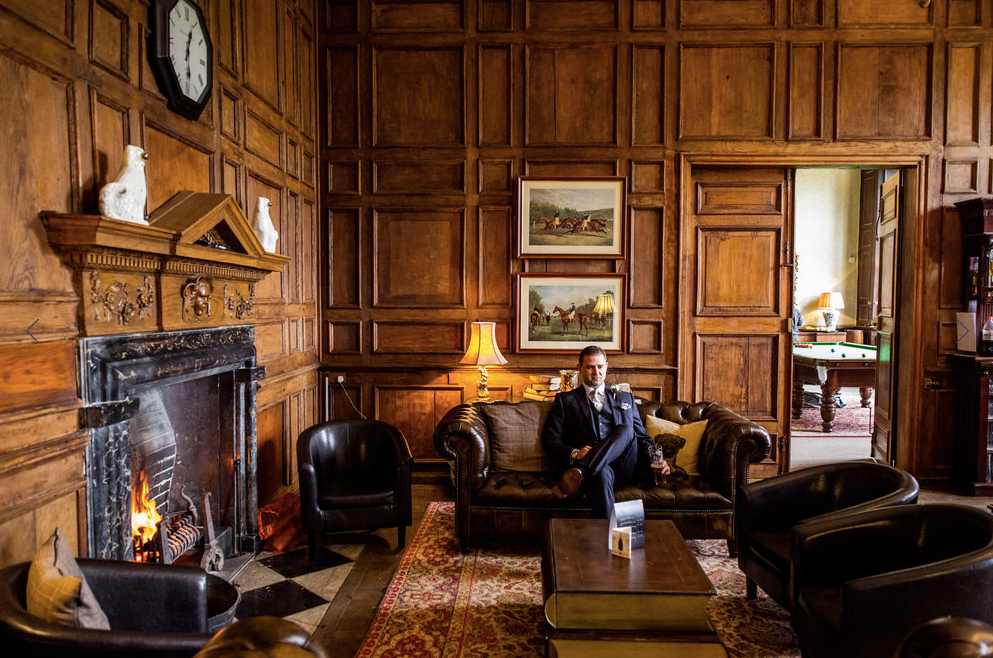 The wood panelled Library Bar