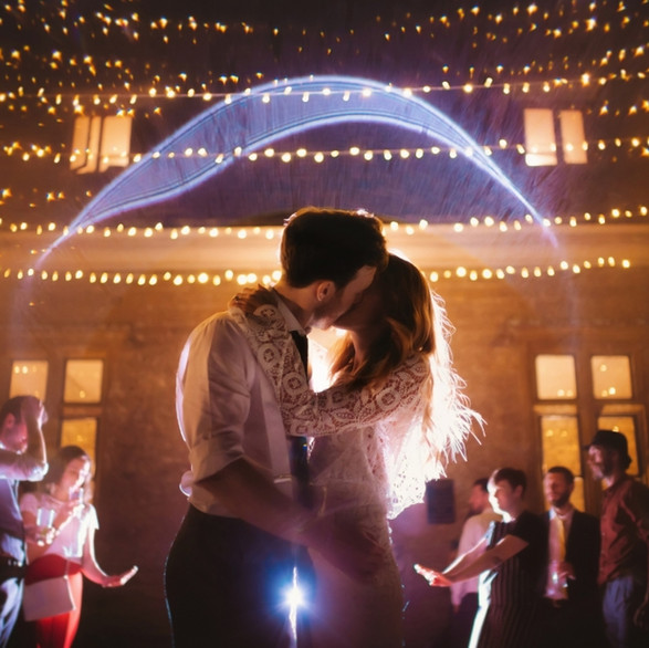 A Kiss underneath the Fairylight Canopy