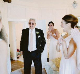 Father of bride first look