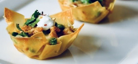 Tandoori Chicken in Filo cups Canapés