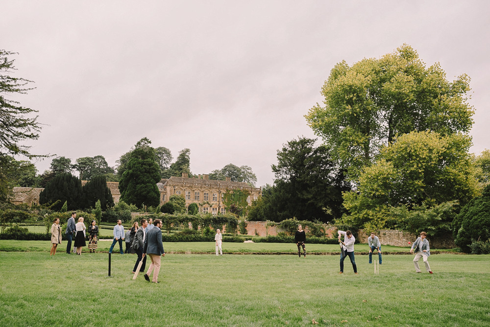 A game of cricket on the cricket lawn