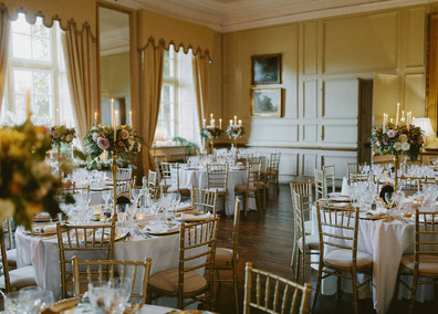 The Salon is a beautiful wedding breakfast space, and seats up to 100 guests