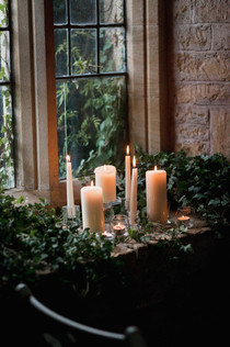 Simple Glass Candle Display