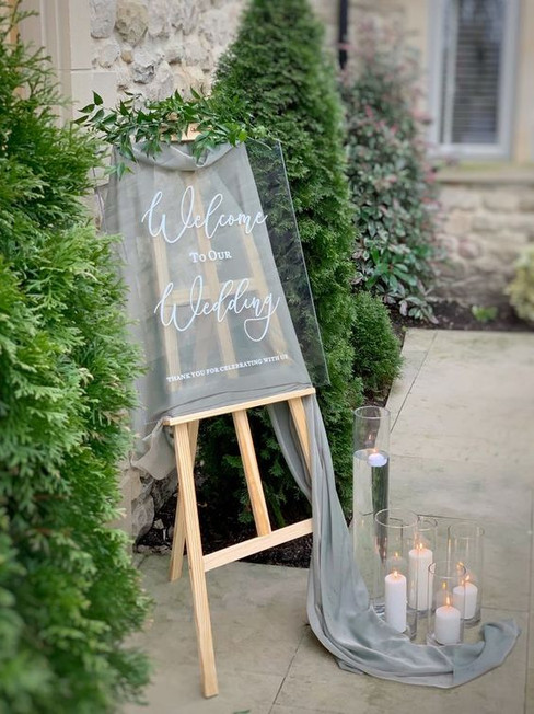 Acrylic Welcome to our Wedding Sign