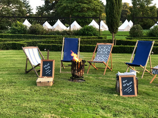 Fire pit in the Walled Garden