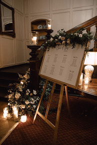 Table Plan situated at the base of the Great Stairs