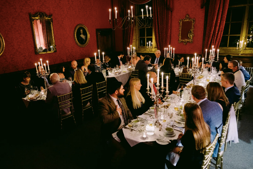 The candlelit State Dining Room