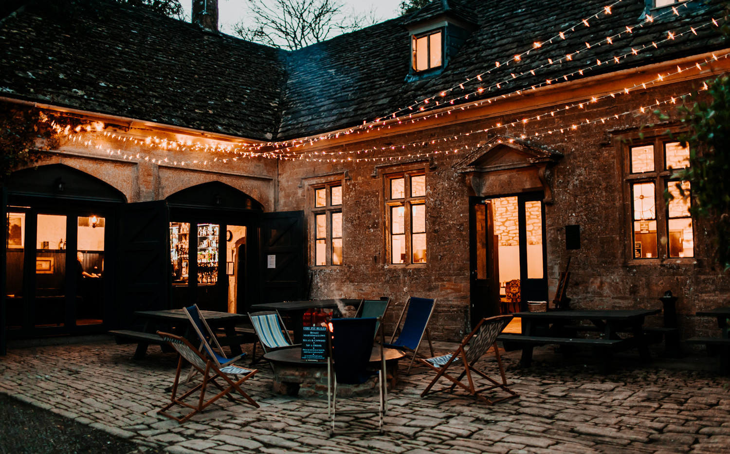 The Courtyard of The Party Barn