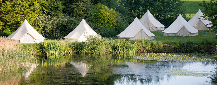 "In addition to the 31 bedrooms, there are 100 ""glamping"" tents available"